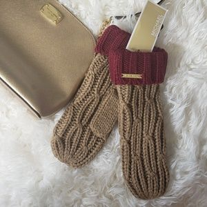 MK Cable Knit Mittens